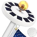 TOTOBAY 30 LED Solar Power Flag Pole Lights, {Upgraded Version} Weatherproof...