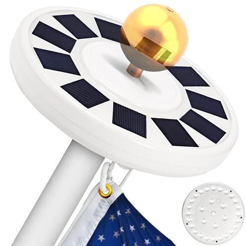 TOTOBAY Solar Power Flag Pole Lights