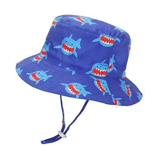 LACOFIA Cappello da Sole per Bambino Cappellino Estivo da 50 + UPF Protezione Solare Neonato Berretto da Spiaggia a Tesa Larga con Cinturino sottogola...