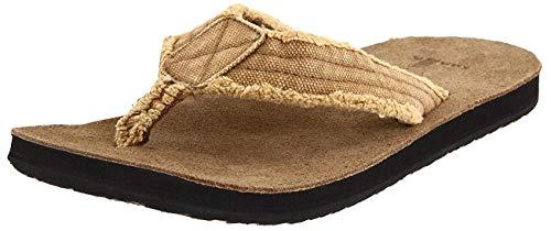 Sanuk Fault Line Herren Flip-Flops, Grün - kaki - Größe: 9 D(M) US