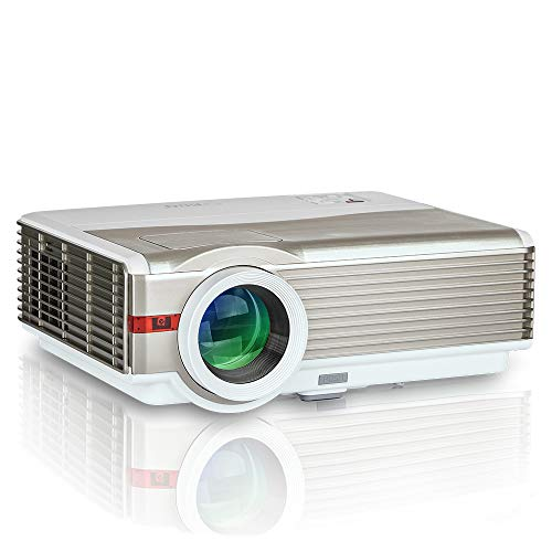 """EUG 5000Lumens LCD LED Projector 1080P HD Supported 200"""" Display Multimedia WXGA Home Theater Projector with HDMI Cable Compatible with Laptop TV Stick Chromecast Roku Xbox Wii Outdoor Movie Proyector"""