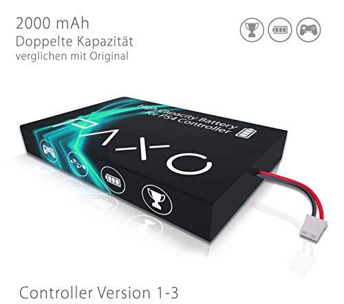 High-Performance Li-Ionen Akku 2000mAh für PS4 Controller Version 1-3 // Austausch Set mit Foto-Anleitung und Werkzeug zum Öffnen des Controllers