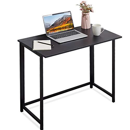 Schreibtisch, APOWE Faltbarer Schreibtisch Computertisch Bürotisch Arbeitstisch Klapptisch,Home Office Klappbar PC Tisch für kleine Räume,Büros (Schwarz)
