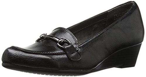 A2 by Aerosoles Women's Love Spell Slip-On Loafer, Black, 7 M US