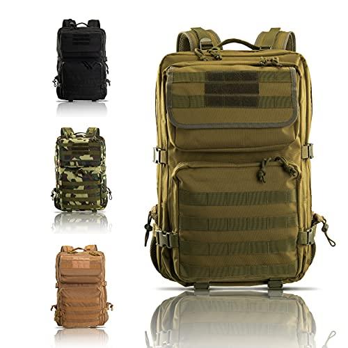 Armybag® | Wasserdichter Outdoor Rucksack Grün - 45-47 Liter Volumen - Militär...