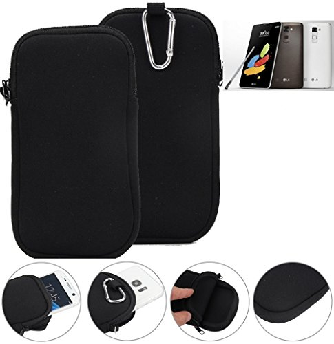 K-S-Trade® Neopren Hülle Für LG Stylus 2 DAB+ Schutzhülle Neoprenhülle Sleeve Handyhülle Schutz Hülle Handy Gürtel Tasche Case Handytasche Schwarz