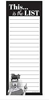 This Is The List Funny Notepad - Magnetic Grocery List, To Do List, 3x8 Inches (50 Sheets)