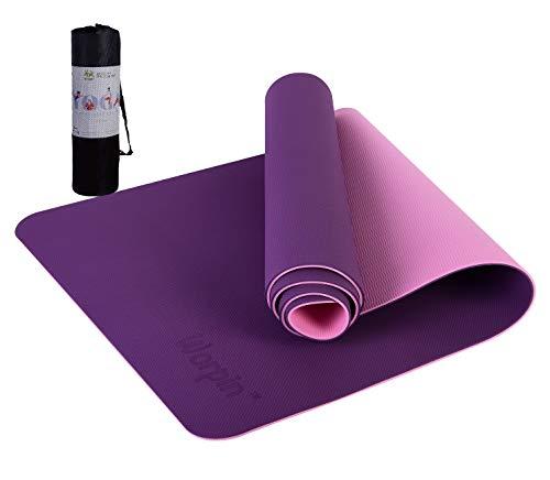 WORPIN, Esterilla Deporte, Esterilla Yoga, Colchoneta Gimnasia Antideslizante, 183x61cm con Funda y Correa de Hombro