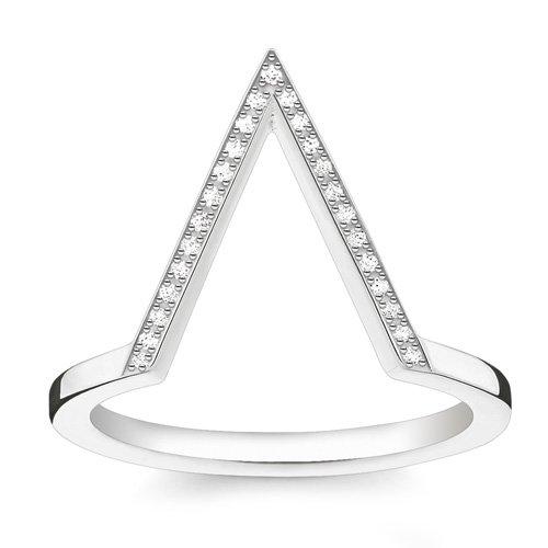 Thomas Sabo Mujer plata de ley 925 plata blanco diamante FINERING