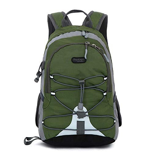 Small Size Waterproof Sport Backpack,10 inches Outdoor Daypack,Suitable for Height Under 4 feet,for Girl Boy Traveling (Army Green)