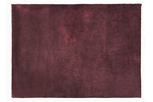 Eurofirany - Alfombra Decorativa, Alfombra de Alfombra, Alfombra de baño, salón, Dormitorio, Cocina, Rectangular, imitación de Pelo, Suave, Color Burdeos, 50 x 70 cm