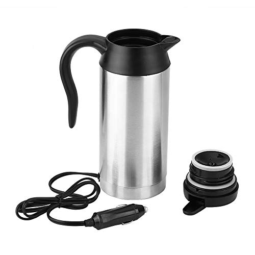 Auto Wasserkocher, 750 ml 12V Auto Edelstahl Zigarettenanzünder Heizkessel Becher Elektrische Reisethermosflaschen