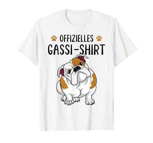 Offizielles Gassi Shirt Englische Bulldogge Hundehalter T-Shirt