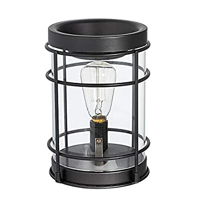 Edison Bulb Electric Candle Warmer with Timer   Plug in Fragrance Warmer for Scented Wax Melts, Cubes, Tarts   Air Freshener Set for Rustic Home Décor, Office, Gifts