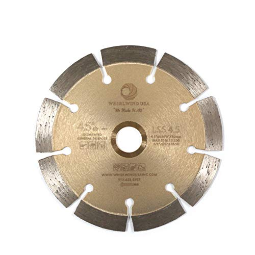 Compatible with 4.5 inch Diamond Saw Blade Whirlwind USA LSS Concrete Saw Blade,Dry or Wet Cutting for Stone Brick Masonry Building Materials(LSS 4.5