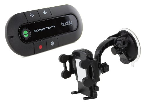 SuperTooth Buddy Kit Vivavoce Bluetooth 2.1 con Supporto auto per Smartphone, Nero