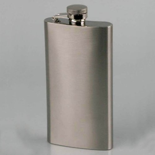 Flasque de 15 cl, plate et élancée, en inox