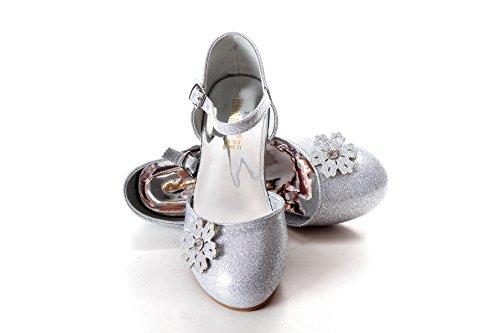 ELSA & ANNA® Mädchen Gute Qualität Schuhe Prinzessin Schnee Königin Gelee Partei Schuhe Sandalen SIL12-SH (Euro 27 - Innenlänge: 18.0cm, SIL12-SH)
