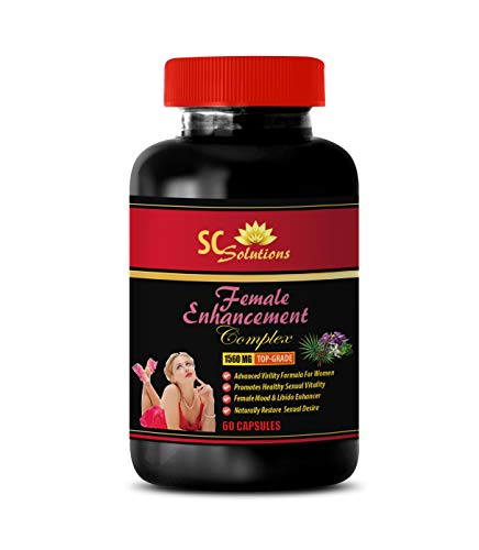 Female Sex Enhancer - Female Enhancement Complex 1560MG - Horny Goat Weed Best - 1 Bottle (60 Capsules)