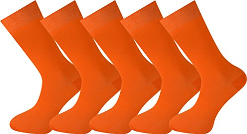 Mysocks unisex 5 Paar Packsocken Orange