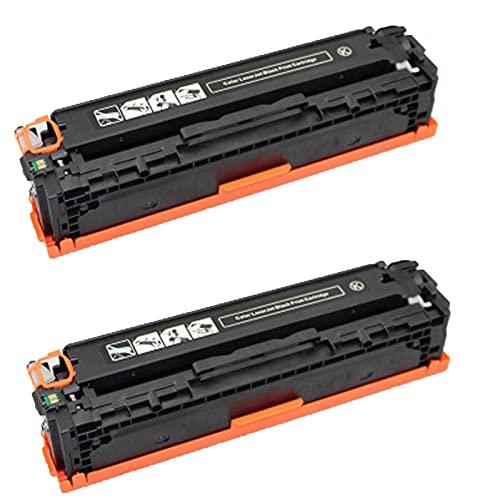 AXAX Cartucho de tóner 305A para HP 305A CE410A CE411A CE412A CE413A para impresoras HP Color Laserjet Pro M300 400 351A 451DN 451NW 375NW 475D (2 unidades), color negro
