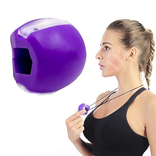 MEISHANG Jawline Shaper Face Slimmer,Double Chin Exerciser pelota de entrenamiento de doble barbilla, herramienta de entrenamiento de pino, exercitor y cuello, herramienta de belleza facial perfecta