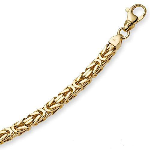 18 Karat 750 Gelbgold - 3 mm Königskette Armband Armkette 21 cm.