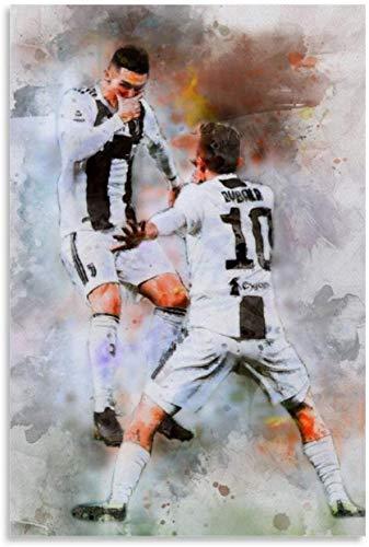 ZRRTTG Leinwand Bilder Kunst Ronaldo Dybala Maske für Wohnzimmer Dekor Malerei Poster Druckt Gedruckte 19.7