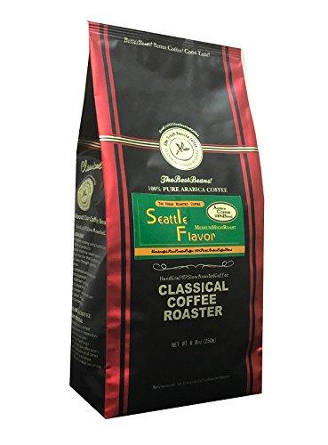 コーヒー豆 シアトルフレーバー ブレンド 250g (8.8oz 【 中粗挽 】 クラシカルコーヒーロースター 100% アラビカ 豆