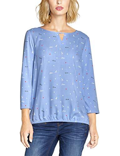 Street One Damen 313949 T-Shirt, Mehrfarbig (Heaven Blue 31888), (Herstellergröße:42)