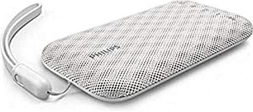 Philips Everplay Altavoz Bluetooth (Potente y portátil, Resistente al Agua, con micrófono, Correa USB) Color Blanco BT3900W