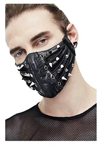 Devil Fashion Herren schwarze Ledermaske für Cosplay Kostüme