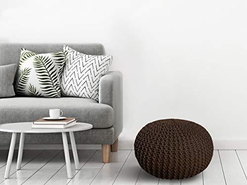 Homemania zitzak voor woonkamer, slaapkamer, kinderkamer 45 x 30 x 45 cm Bruin