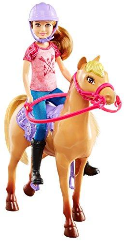 Barbie DYX18 Camping-Spaß Stacie Puppe und Pferd
