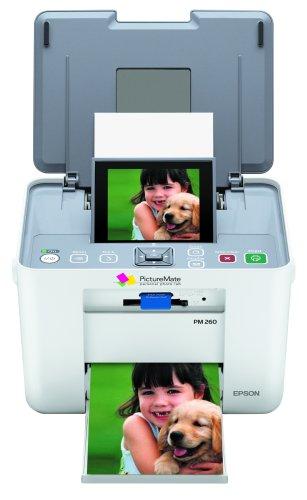 : Epson PictureMate Dash PM260 Compact Photo Inkjet Printer (C11C694201) : Picture Printer