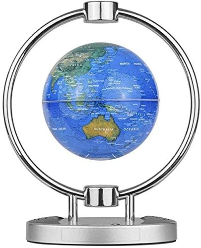 THj Globos, Globo de leviación magnética de 6 Pulgadas, Altavoz inalámbrico BT, Globo de Mapa del Mundo Flotante con luz LED Colorida y Soporte de Base