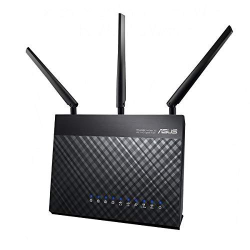 Asus DSL-AC68U Modem Router (Ai Mesh WLAN System, EU und DE-Version Annex A B J, WiFi 5 AC1900 MIMO, 4x Gigabit LAN, AiProtection, Dual-Core CPU, Multifunktion USB 3.0)