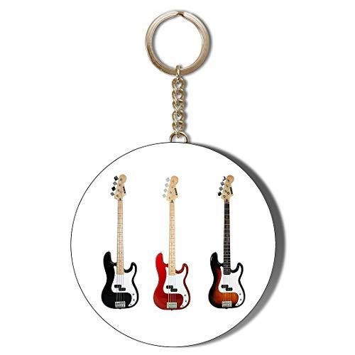 Gift Insanity Schlüsselanhänger für Bassgitarre, 45 mm, Weiß