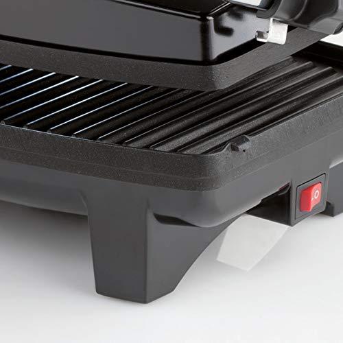 Imetec Dolcevita GL5 Bistecchiera, Piastre Antiaderenti, Grill con 2 Posizioni di Cottura, Scalda Panini con Temperatura 200 °C, Spia Riscaldamento Piastre, Beccuccio per Scolo Liquidi, 1000 W