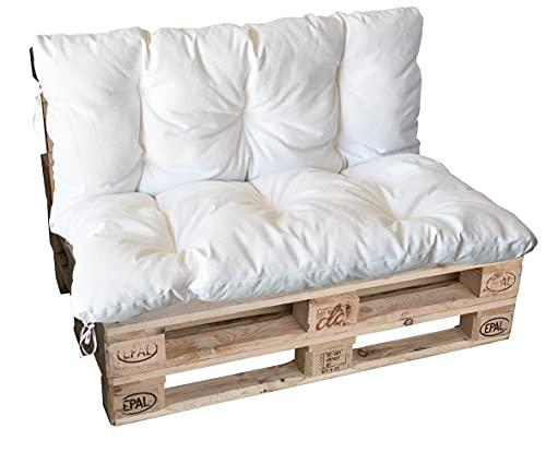 Divano divanetto 2 posti in Pallet EPAL per Esterni con Cuscino -Made in Italy- Verniciato, 120x80x78