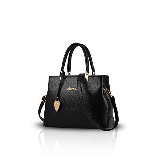 NICOLE&DORIS Nuove borsa donna Borse a mano borsa di modo Donna da Spalla borsa Borsa a tracolla donna Nero