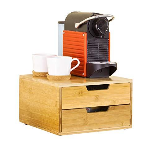 SoBuy FRG82-N Kaffeekapsel Box Kapselspender Aufbewahrungsbox Schubladenbox Schreibtischorganizer BHT: 30x18x31cm
