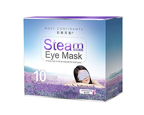 Idealy Warm Steam Eye Mask for Dry Puffy Fatigue Eyes with Lavender 10 Packs