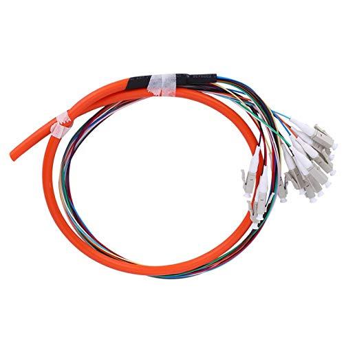 Kadimendium Fibra óptica, 12 núcleos Fibra multimodo Cable Flexible multimodo LC/UPC Fibra multimodo Cable Flexible de Fibra óptica Cable de Fibra óptica Conexión Estable para Redes