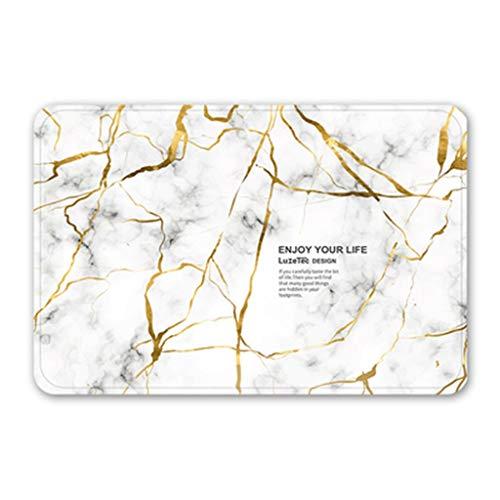 For Sale! CarPet Door Absorbent pad Home Bedroom\Bathroom mat (Color : White, Size : 6090cm)