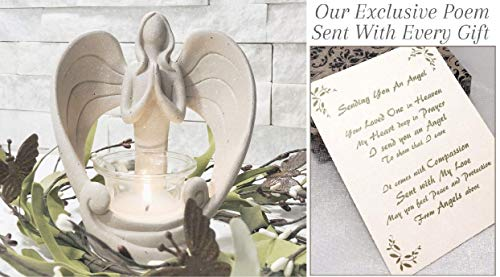 Sending You an Angel Candle Holder to Express Sympathy for Funeral Or...