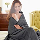 Dornroscn Cooling Weighted Blanket (48'x72'8lbs) with Thin Comforter for Autumn, Breathable Cozy Weight Blankets for Twin Sized Bed and Couch, Soft Quilted Heavy Throw Blanket,Grey