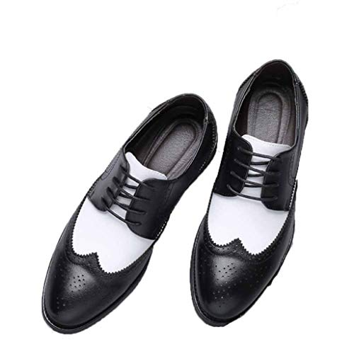 Zapatos de Vestir de Hombre Brogue Boda con Cordones de Cuero Formal Fiesta Oxfords Zapatos de Punta Puntiaguda Oficina Trabajo de Negocios Zapatos Casuales