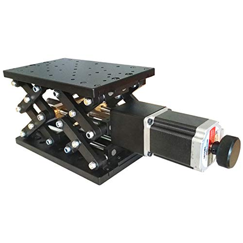 Caige 120 mm de precisión motorizado Lab Jack, Z-Eje de Carrera eléctrico Plataforma, Levantador Universal Mobile