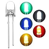 Diodos led de colores 1000pcs,Roeam diodo luz LED diodos emisores de Set 5mm Componentes Electrónicos,rojo/verde/amarillo/blanco/azul redondo